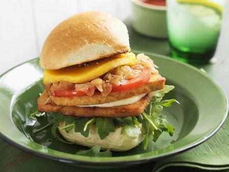 Burger mit Tofu und Mango