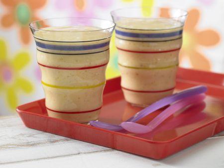 Buttermilch-Shake mit Kaki