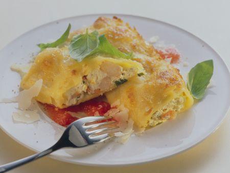 Cannelloni mit Shrimps-Ricotta-Füllung
