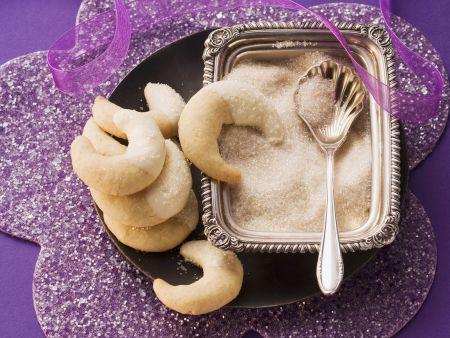 Cashew-Kipferl mit Ingwer
