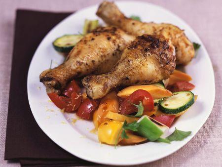 Chicken Wings mit Gemüse