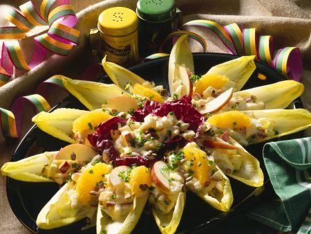 Chicoree mit fruchtigem Selleriesalat