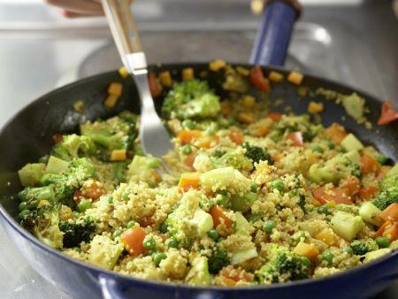 Couscous-Gemüse-Pfanne: Zubereitungsschritt 10