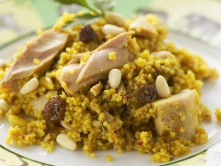 Couscous mit Thunfisch und Sultaninen