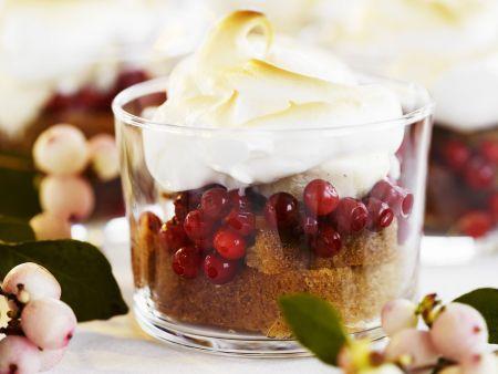 Cranberry-Gewürzkuchen-Trifle