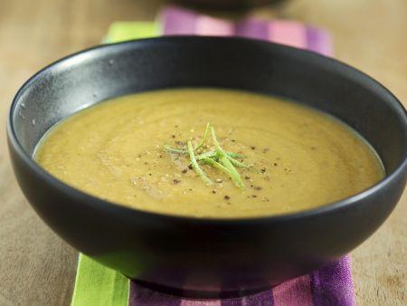 Cremige Karotten-Linsen-Suppe
