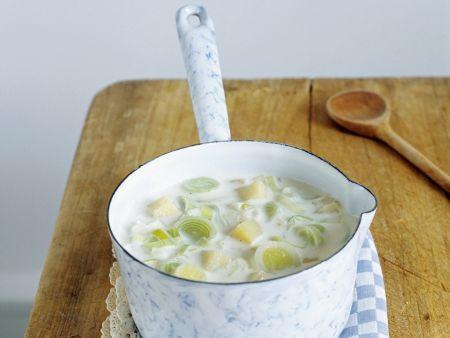 Cremige Kartoffel-Porree-Suppe