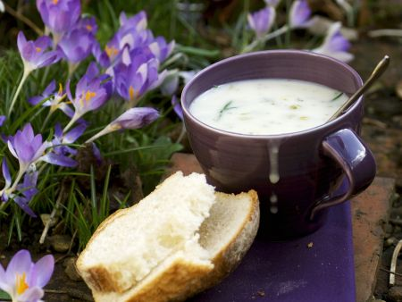 Cremige Lauchsuppe