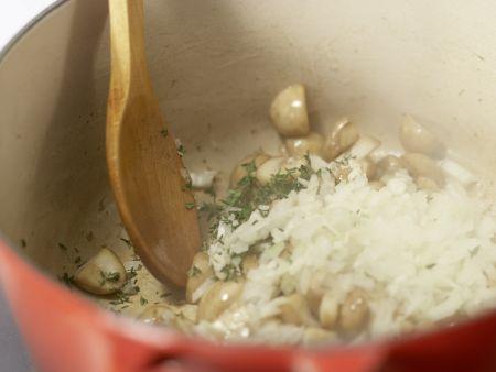 Cremige Pilzsuppe – smarter: Zubereitungsschritt 3