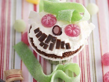 Cupcake mit Monstergesicht