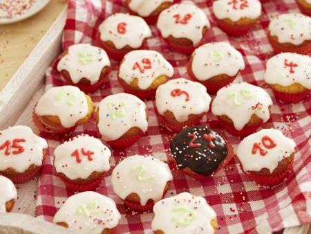 Cupcakes als Adventskalender
