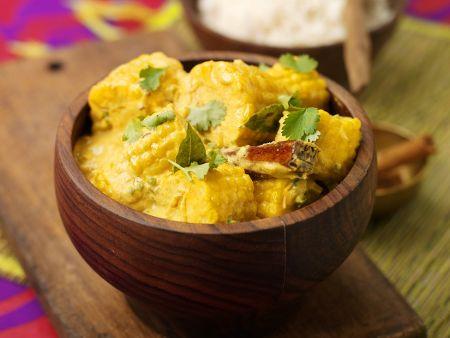 Curry mit Maiskolben