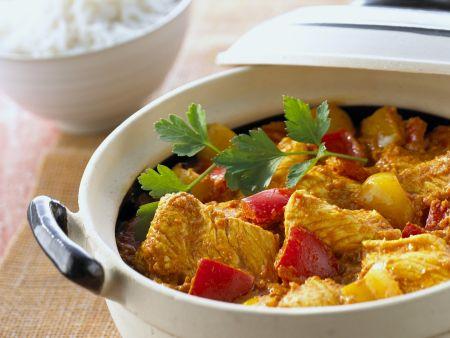 Curry mit Putenfleisch