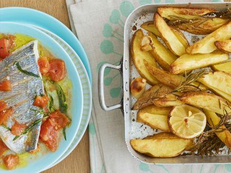 Dorade mit Ofenkartoffeln