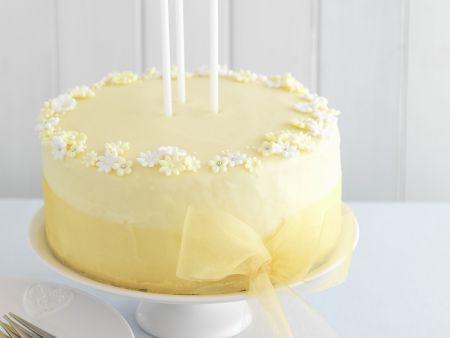 Edle Zitronen-Gin-Torte