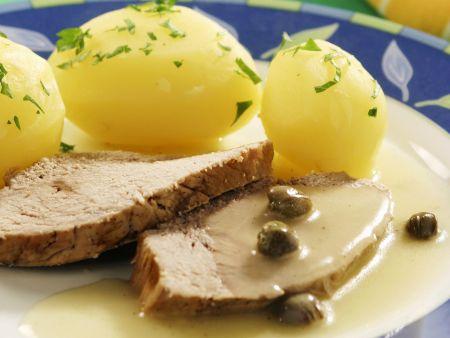 Eingemachtes Kalbsfleisch auf schwäbische Art