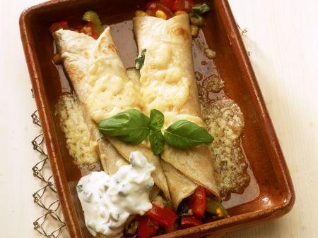 Enchiladas gefüllt mit Gemüse
