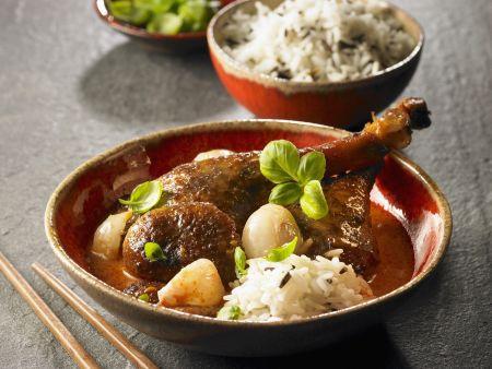 Ente in Currysoße