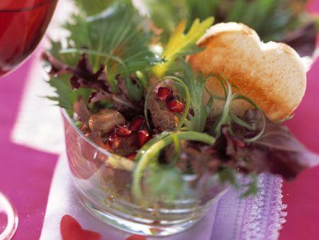 Entenlebersalat mit Granatapfel