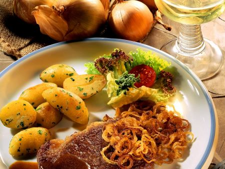 Entrecôtes mit Kartoffeln