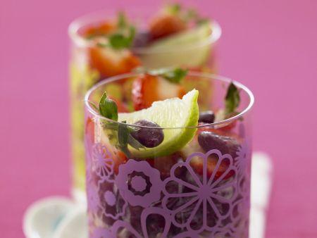 Erdbeer-Bohnensalat mit Honig