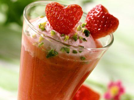 Erdbeer-Champagner-Parfait