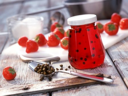 Erdbeer-Pfeffer-Gelee