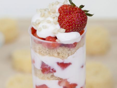 Erdbeer-Quark-Dessert (Push Up Cake Pop)