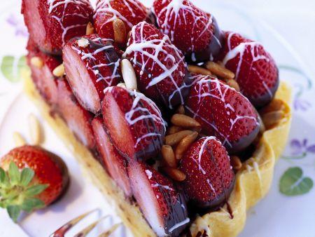Erdbeer-Schokotarte