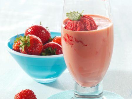 Erdbeereis-Joghurt-Shake