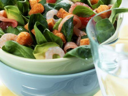 Fedsalat mit Shrimps