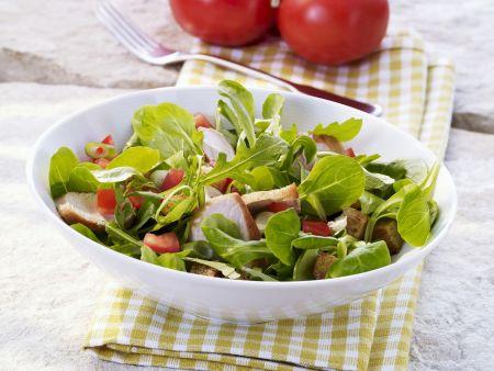 Feldsalat mit Putenbrust