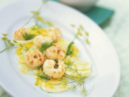 Fenchel-Paprika-Salat mit Shrimps