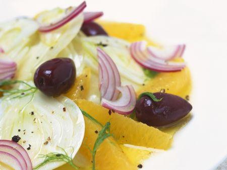 Fenchelsalat mit Orangen und Oliven