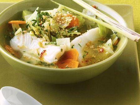 Fisch-Gemüsesuppe