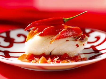 Fisch mit Chili-Tomaten