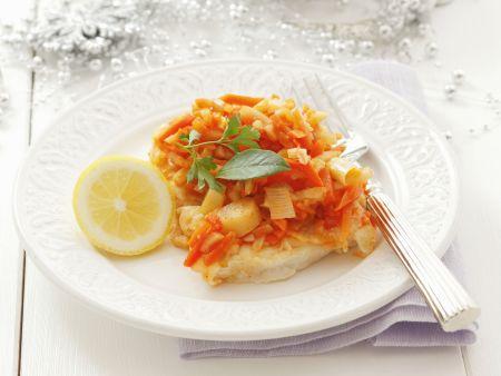 Fisch mit gemischtem Gemüse