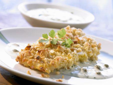 Fisch mit Macadamia-Haube und Kapernsoße