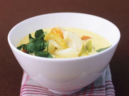 Fischeintopf mit Currysauce