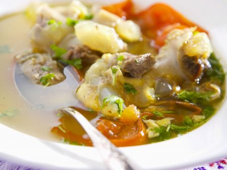 Fischsuppe auf ukrainische Art