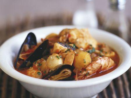 Fischsuppe mit Kartoffeln
