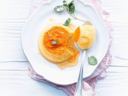 Flan mit Orange