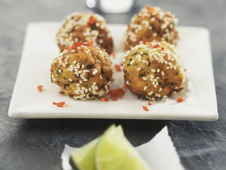 Fleischbällchen mit Sesam
