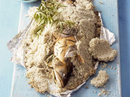 Forelle in Salzkruste