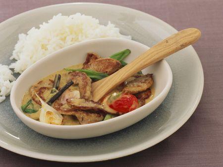 Frikassee mit Curry-Vanille-Sauce