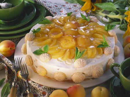 Frischkäse-Aprikosen-Kuchen