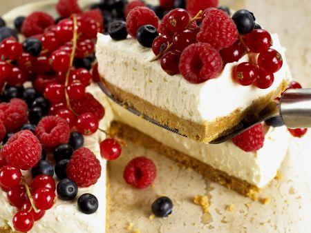 Frischkäse-Beeren-Tarte
