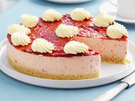 Frischkäse-Erdbeer-Kuchen