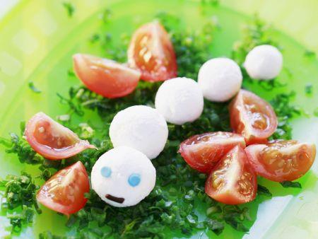 Frischkäsebällchen mit Tomaten