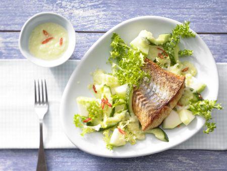 Frisée-Melonen-Salat